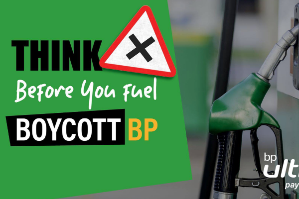 """Think before you fuel with BP"""