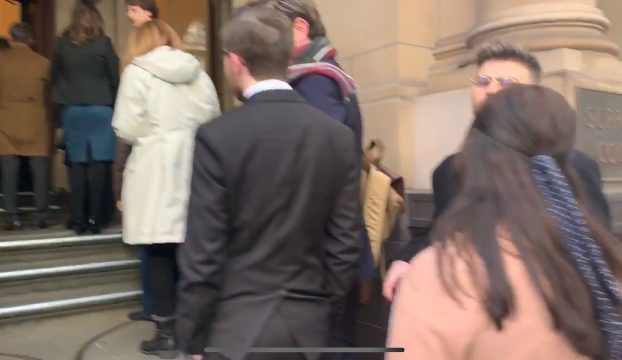 Article image for Crowd queuing for George Pell appeal