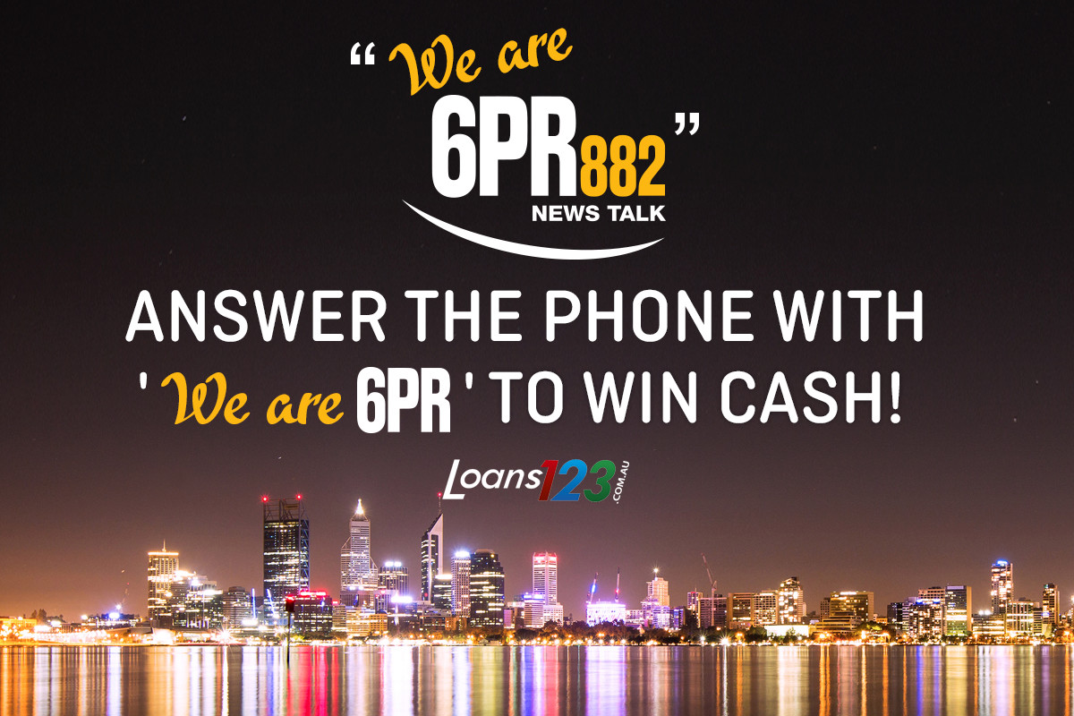 Win cash with 'We Are 6PR'!