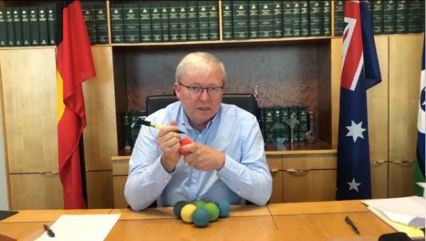 K-Rudd asks for a handball opponent