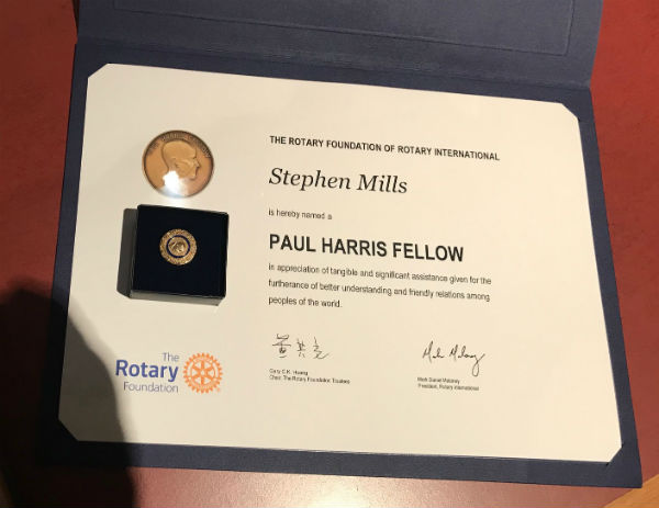 Millsy receives top medal