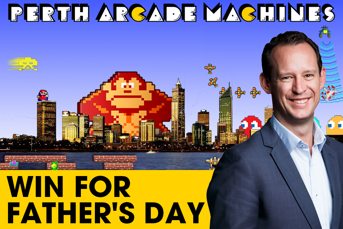 Win a Bar Top Arcade Machine for Father's Day