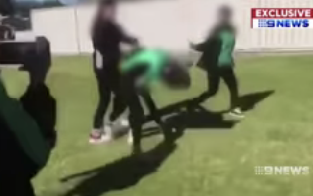 12 year old girl forced to fight in schoolyard