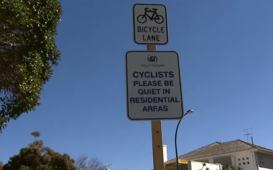 Cyclists asked to be quiet in residential areas