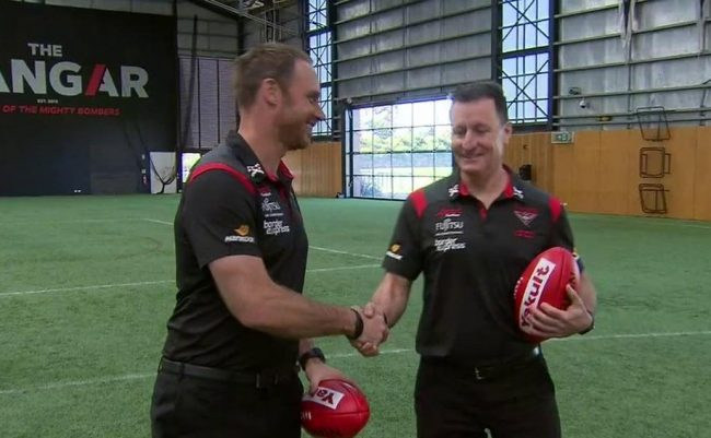 Worsfold hands over reins to future Bombers coach