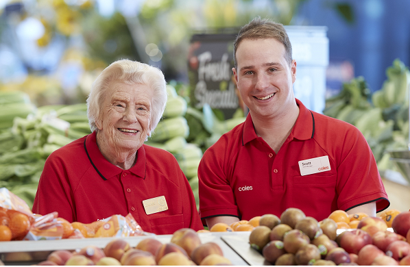 Australia's oldest checkout chick