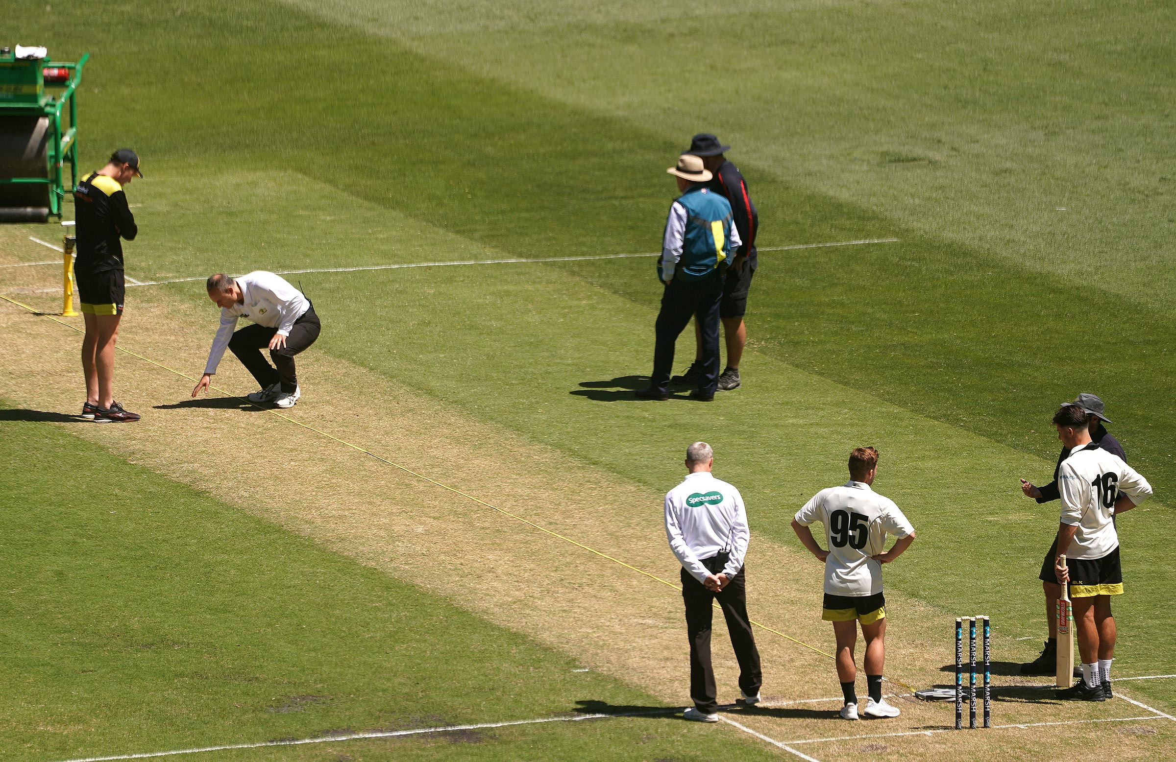 Article image for 'Misbehaving' MCG Wicket Halts Shield Clash