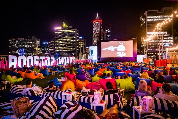 Looking for something to do while the weather is nice? How about a rooftop movie?