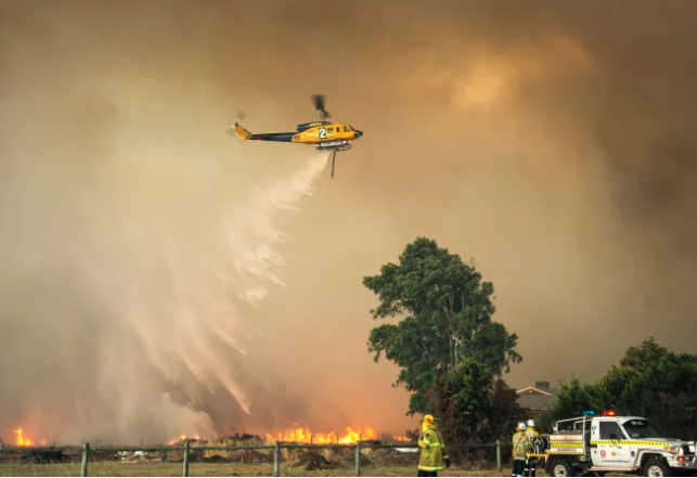 Which WA suburbs are most at risk of bushfires