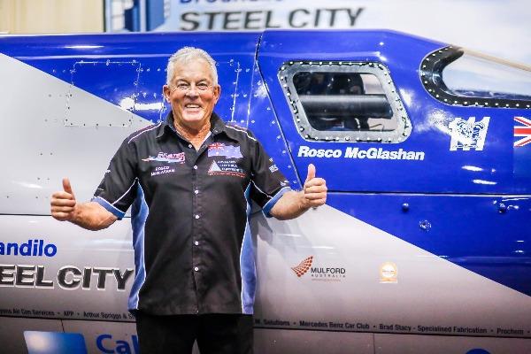 Fastest man on land, Rosco McGlashan, on Perth Tonight