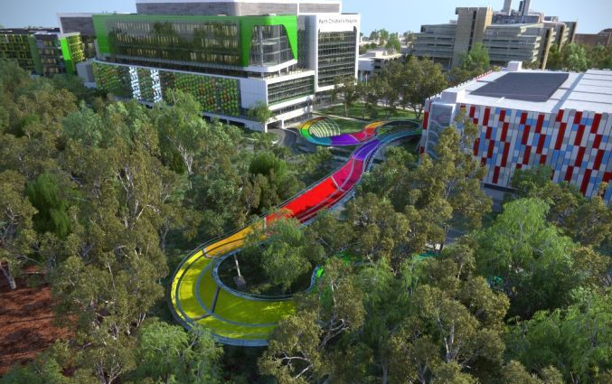 Could Perth's newest bridge be used to save sick children?