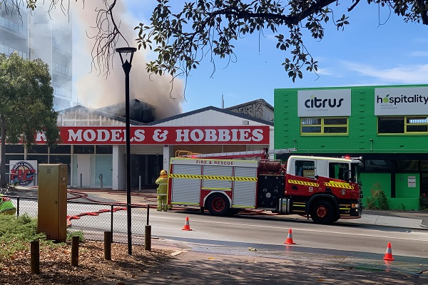 Workers evacuated from structure fire in Perth