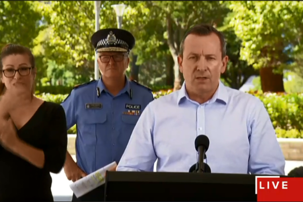 WA borders to close – Premier Mark McGowan's press conference