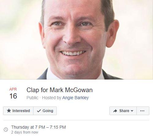 Event: Clap for Mark McGowan