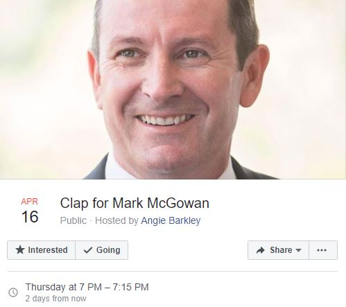 Event: Clap for Mark McGowan