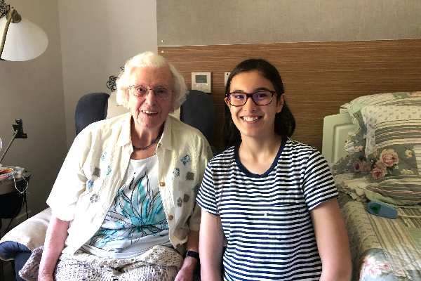 Perth teen inspires virtual closeness for aged-care residents