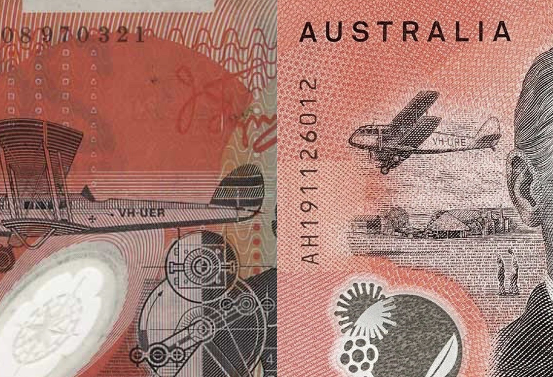 Why is the plane different on the new $20 note