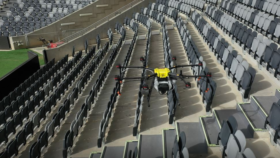 Article image for Disinfecting drones could be the key to live sport