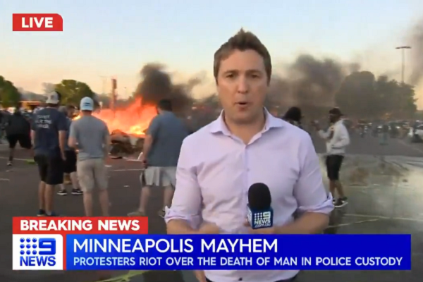 Article image for National Guard called in as Minneapolis riots continue