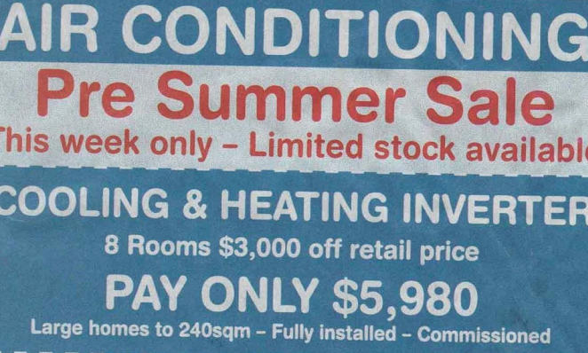 Perth's north warned about dodgy air con installer