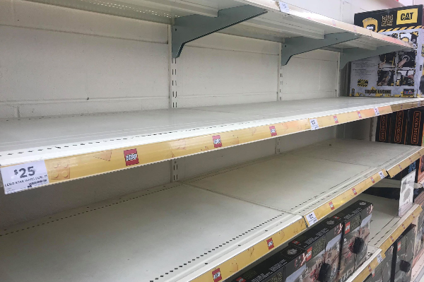Article image for Bare necessities? Empty shelves continue in WA