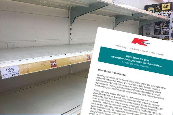 Bare shelves at retail giant