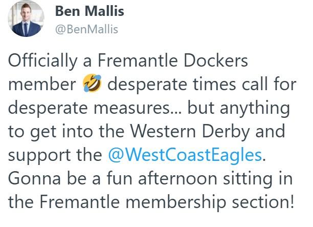 Article image for West Coast fan becomes Fremantle member