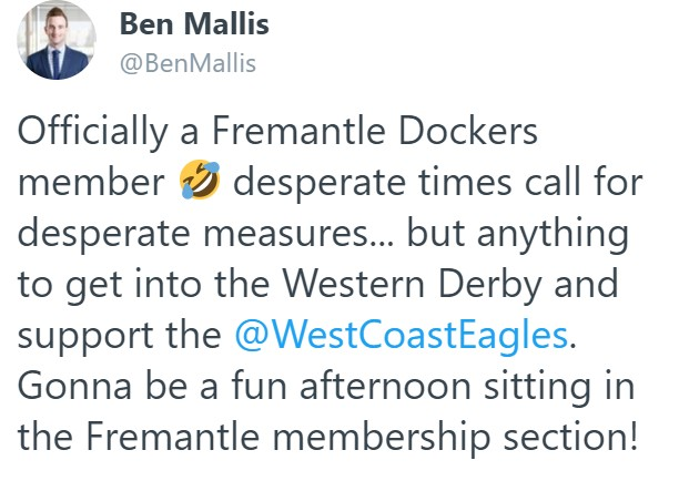 Article image for West Coast fan becomes Fremantle member