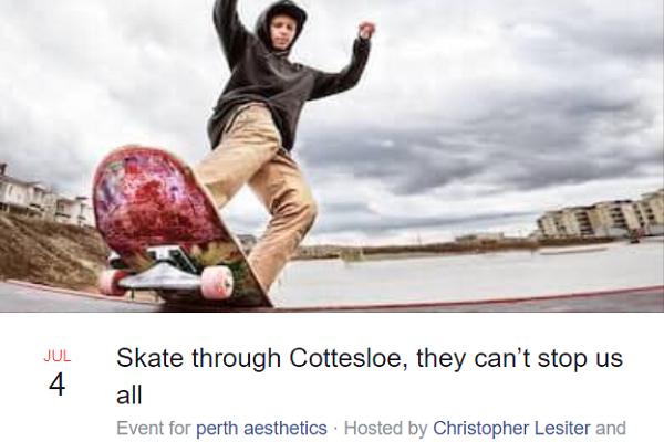 Momentum for skate protest through Cott rolls on