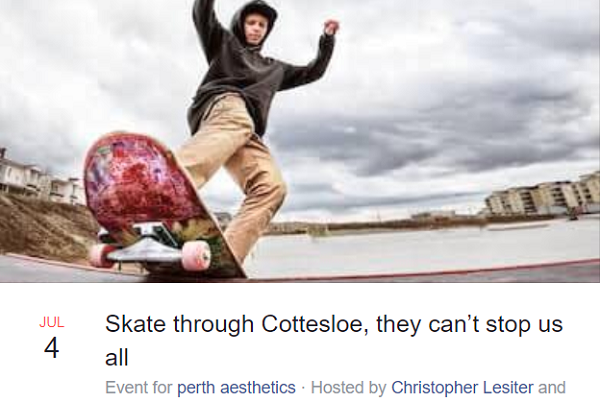 Article image for Momentum for skate protest through Cott rolls on