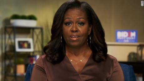 Article image for Michelle Obama's speech slammed Donald Trump