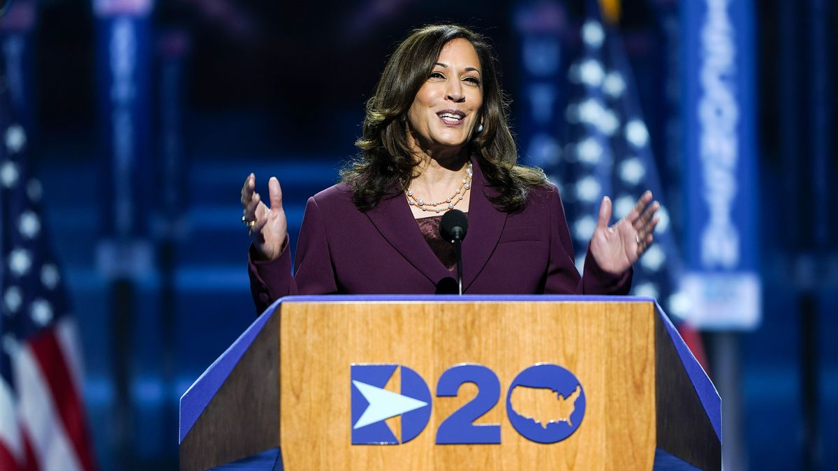Article image for Kamala Harris makes history as US vice-presidential candidate