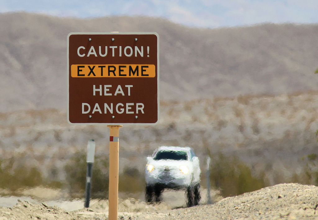 Article image for Death Valley in California records 'highest temperature on earth'