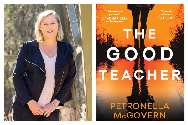 Petronella McGovern and her new book, The Good Teacher