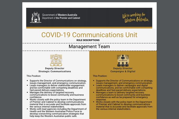 Article image for Why is the State Government hiring more COVID-19 spin doctors?