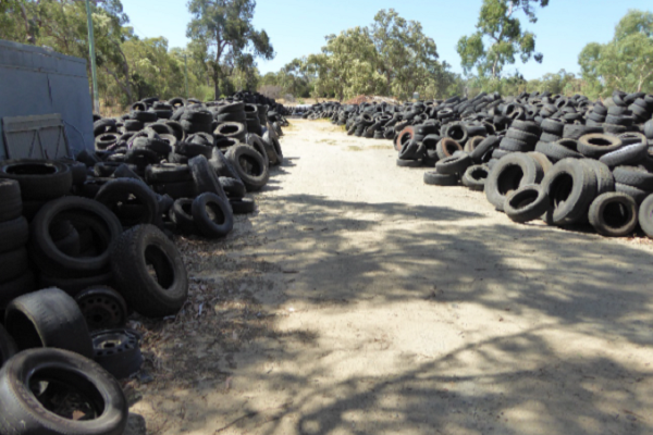 tyre dumping