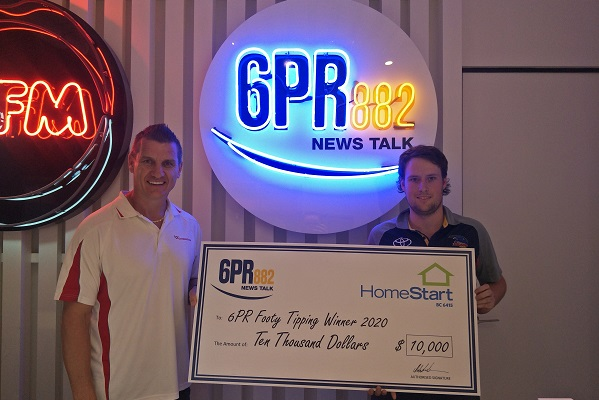 6PR's HomeStart Footy Tipping Winner Ross Ewing!