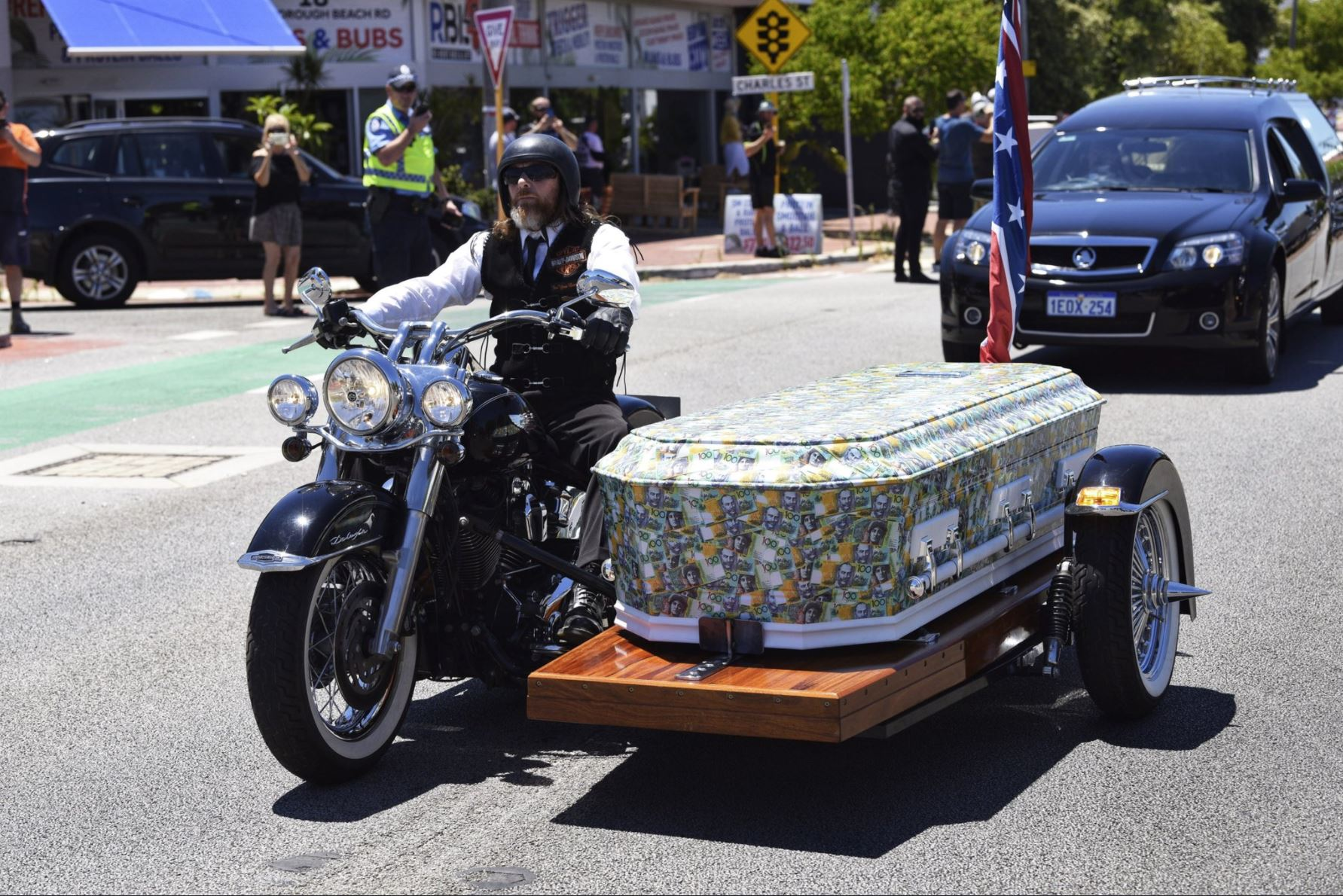 Article image for How to watch the funeral of slain Rebels bikie boss Nick Martin