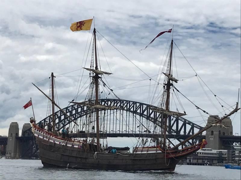 Article image for Duyfken replica arrives in Sydney Harbour