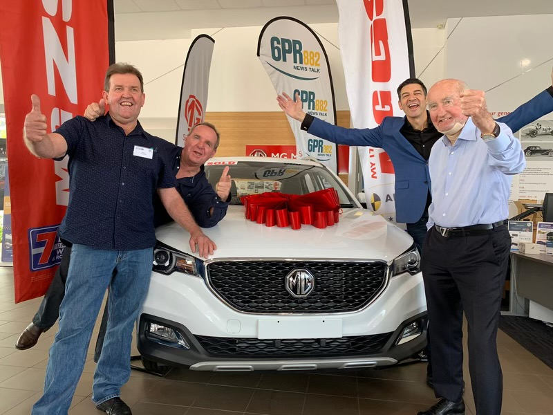 Article image for The moment the 2020 Rumour File winner realised he won a MG ZS Essence