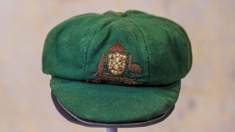 Article image for Donald Bradman's first baggy green sells for $450k