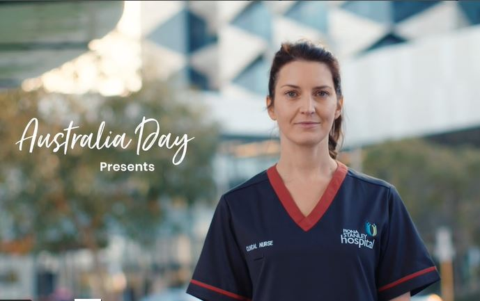 Perth nurse features in national Australia Day campaign