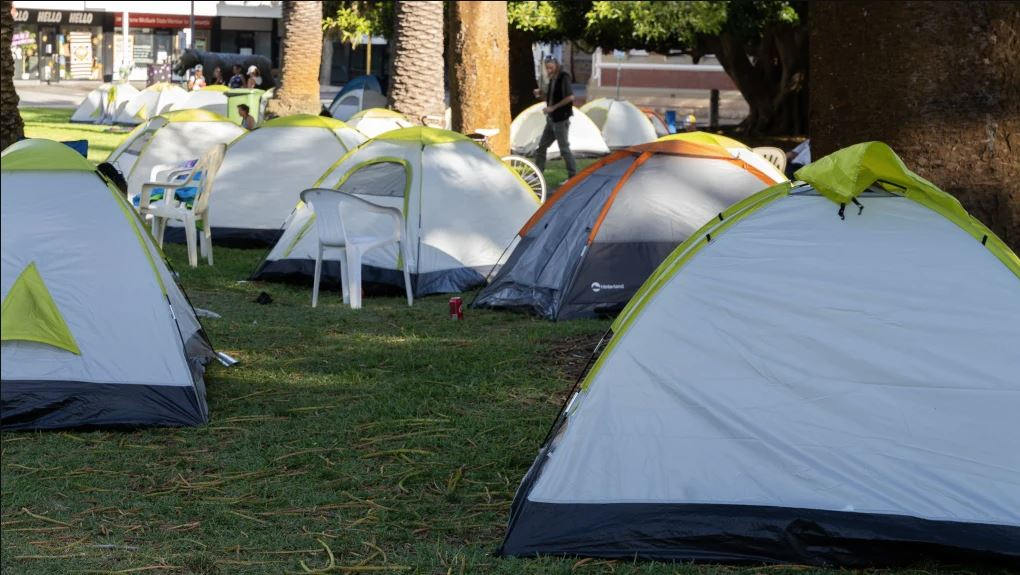 Activist hits back at Premier over tent city comments