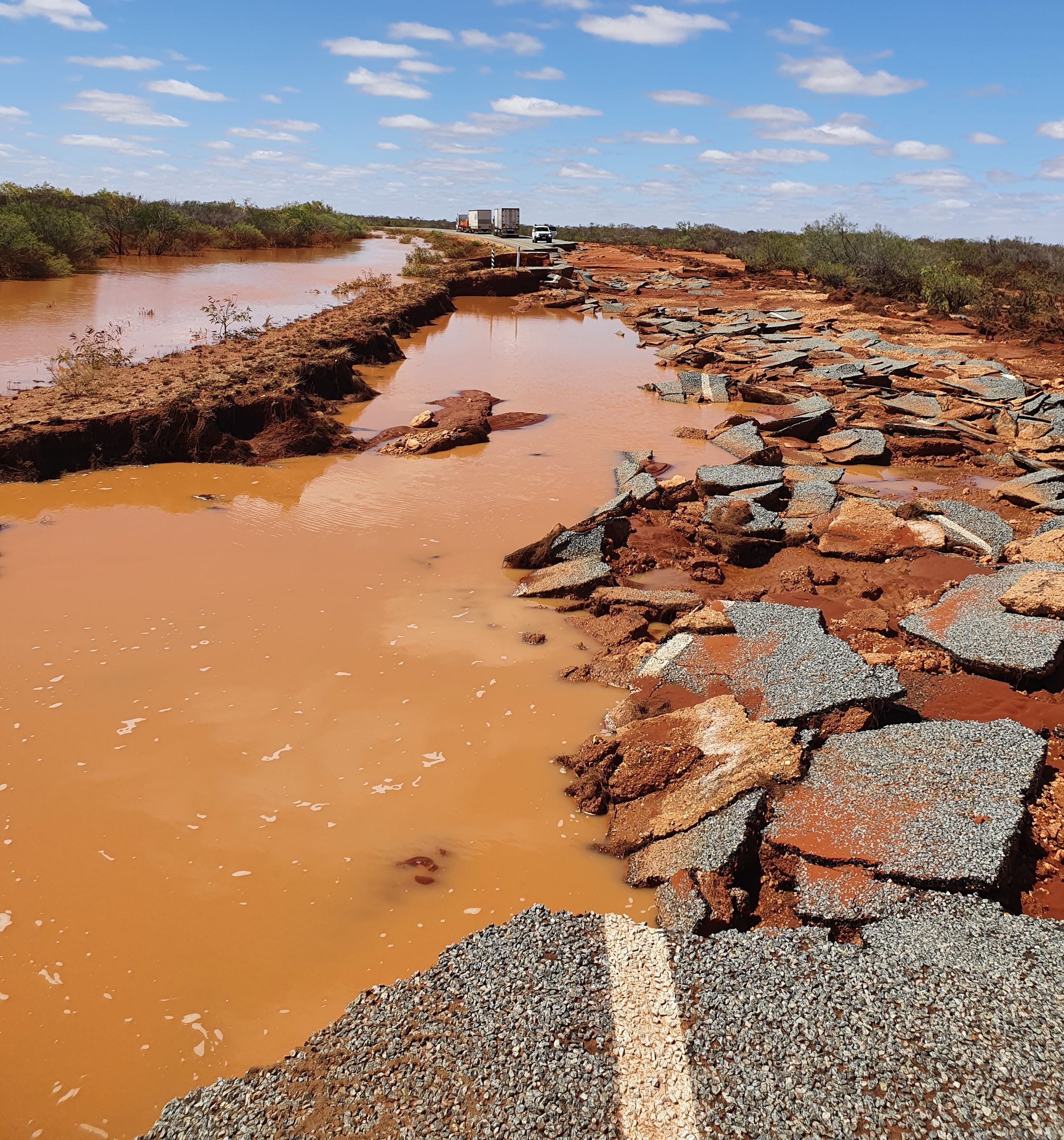 Article image for Destroyed highway described as 'something off a movie set'