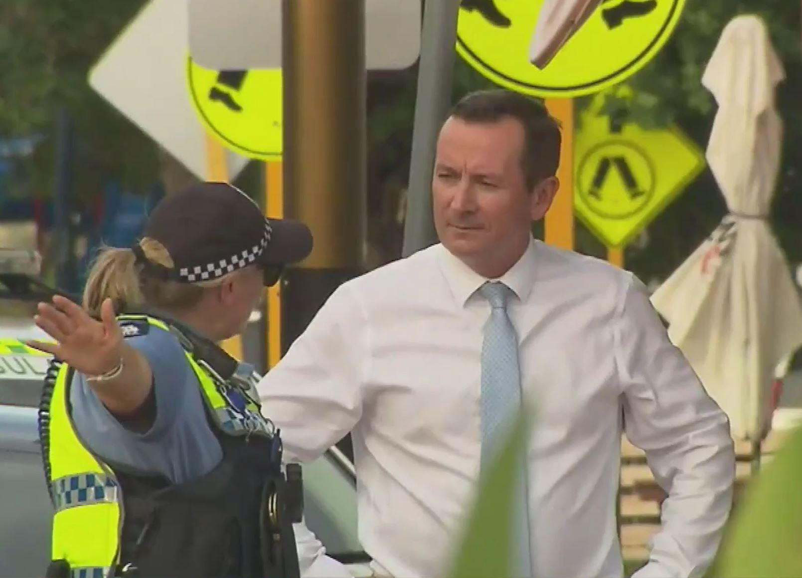 Article image for Man arrested after suspicious package hurled at Premier Mark McGowan's office