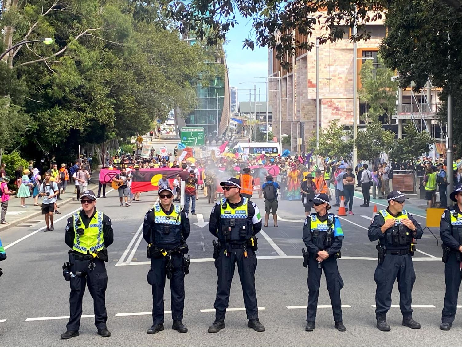 Article image for Extinction Rebellion protestors lie 'dead' in Perth streets causing traffic chaos