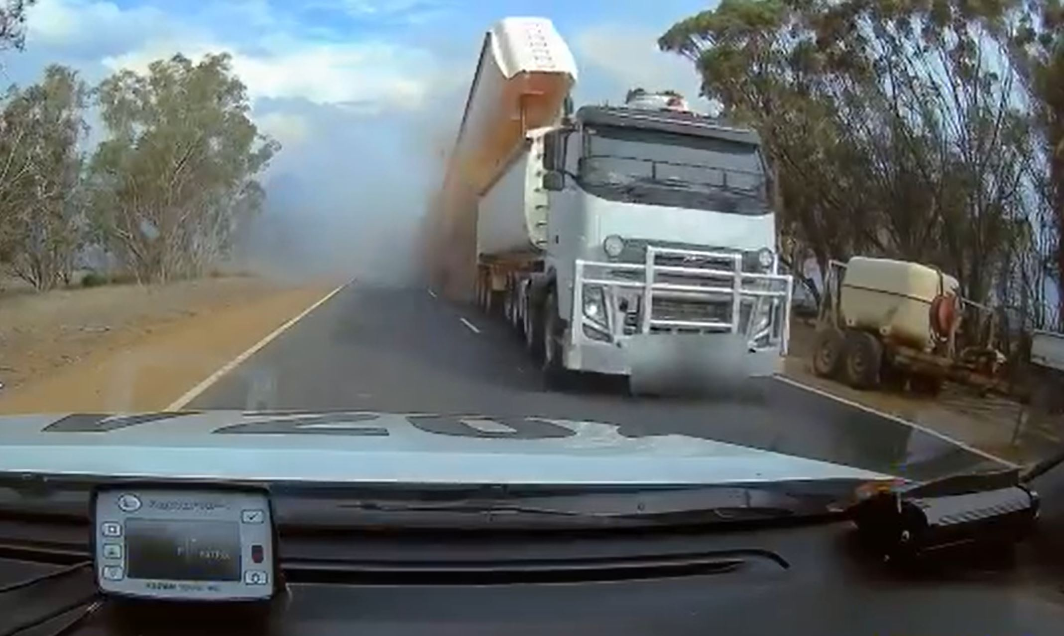 Article image for Police release terrifying vision of truck crash in Williams