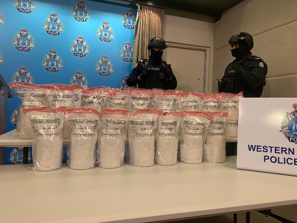 Article image for Massive meth haul – WA Police take down drug king-pin