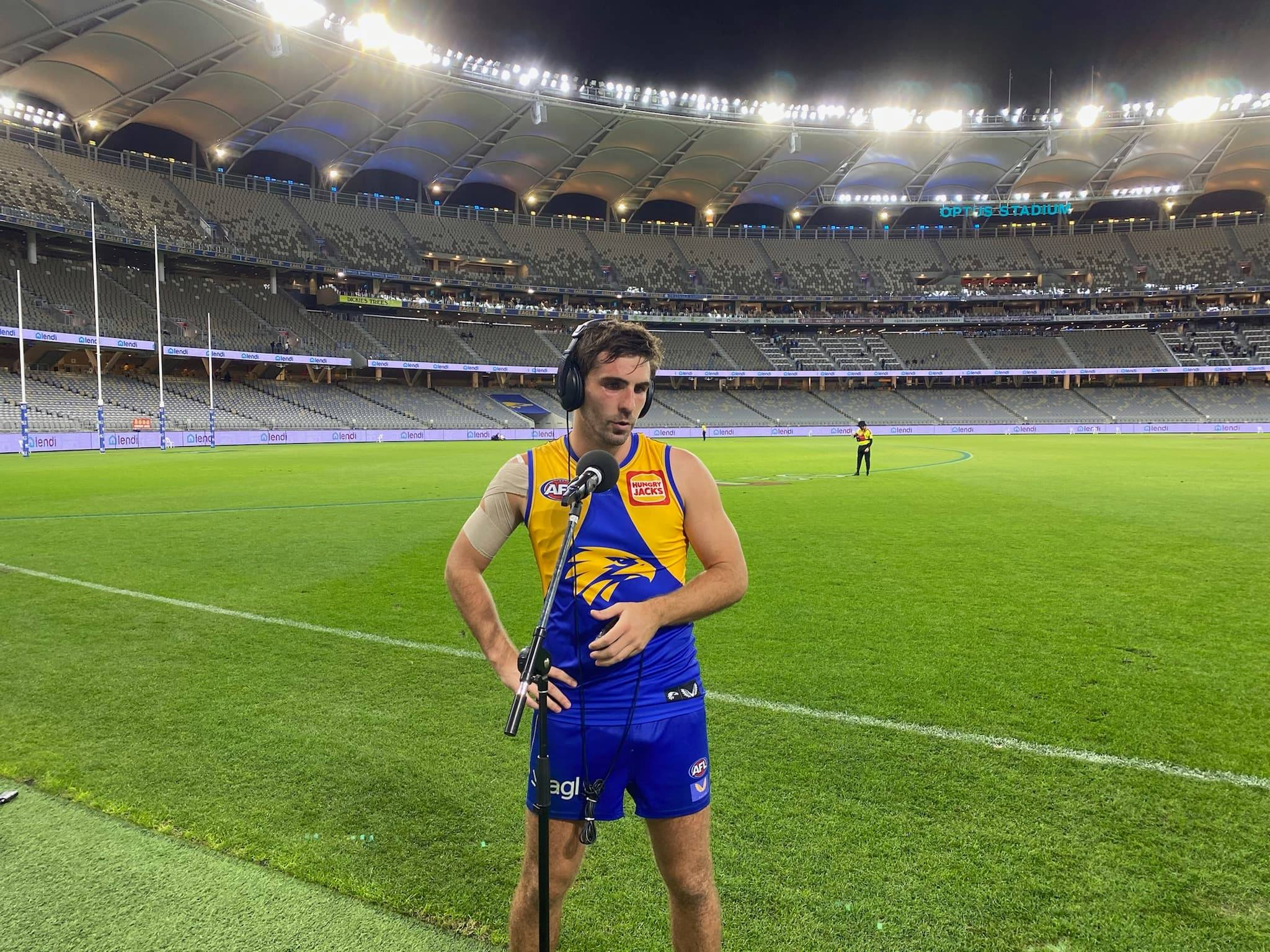 West Coast midfielder Andrew Gaff