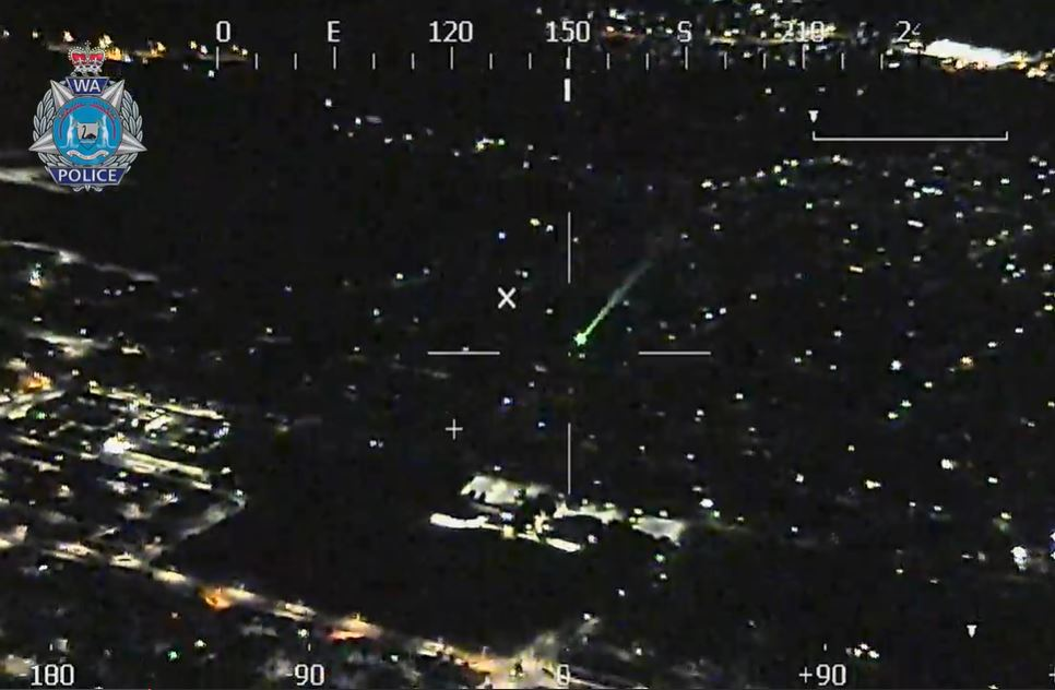Article image for Man charged after allegedly firing laser at RFDS plane